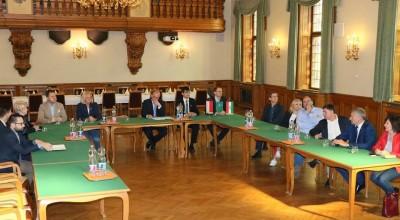 Lengyel delegáció a Megyeházán