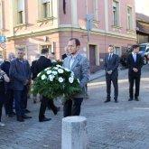 A nemzeti gyásznapon koszorúzták meg a pécsi emlékhelyet