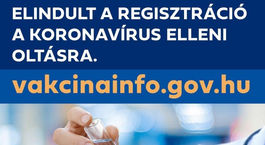 Elindult az előzetes regisztráció a koronavírus elleni oltásra