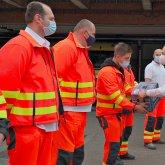 Frissítőt kaptak a mentőszolgálat munkatársai Pécsett